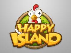 Happy island designed by ChinWey. Bg Design, Game Logo Design, Logos, Typography Logo, Typographic Design, Creative Logo, Creative Ideas, 2d Game Art, Game Happy