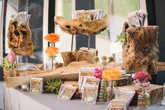 GRO Floral and Event Design   Birds of a Feather: Brittany & Justin   Birdseed send-off   Trinity River Audubon Center   vintage glass bottles and driftwood   Photography by: Jules Photo Design