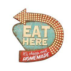 Home Cookin' Sign | dotandbo.com