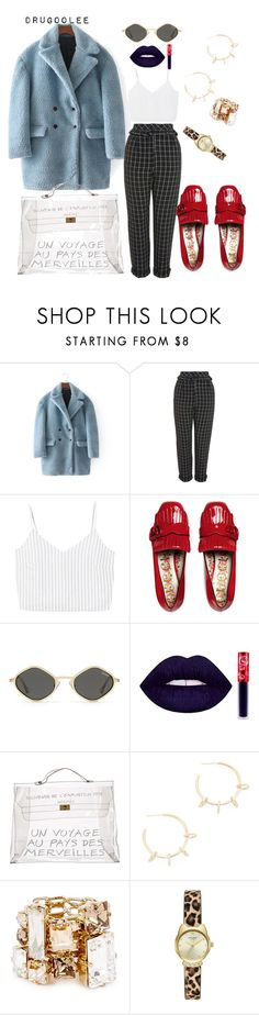 """""""fur coat"""" by drugoolee ❤ liked on Polyvore featuring Topshop, MANGO, Gucci, Hermès, Justine Clenquet and Lanvin"""