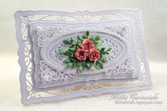 Fancy Framed Roses card by Kittie Caracciolo