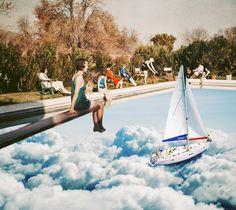 Retro.  Surreal Mixed Media Collage Art By Ayham Jabr.