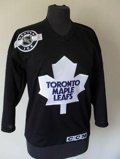 c39fff7c Maglia Toronto Vintage CCM NHL Practice Hockey Jersey Canada Trikot Tg S B61