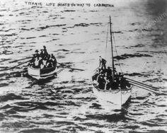 Titanic Life Boats On Way To Carpathia 1910s 8x10 Reprint Of Old Photo Titanic Life Boats On Way To Carpathia 1910s 8x10 Reprint Of Old Photo RMS Carpathia was a Cunard Line transatlantic passenger st