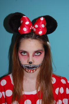 Image result for scary minnie mouse makeup   Halloween   Pinterest ...