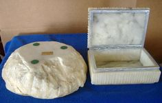 Vintage Alabaster Ashtray and Cigarette Holder