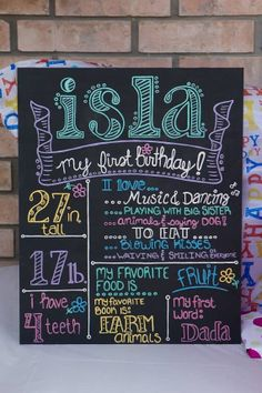 Custom Handpainted Birthday Board by AllMyNiches on Etsy, $60.00