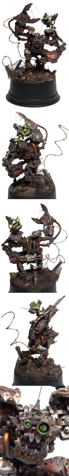 GD 10 Bronze Vehicle Ork Runt-Bot, Deff Dread, conversion, Warhammer 40k.