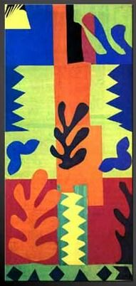 matisse cut outs - Google Search Some of my favorite to teach students about the art of Matisse....He created these when he was confined to a wheelchair. They were very large cutouts and I think they were part of the book Cirque.....I will correct when I find more information.