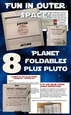 Fun solar system foldables! All eight planets and Pluto! Perfect for middle grades. Great for interactive notebooks! Click for more details.