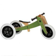 wishbone bike 3-in-1 groen | ilovespeelgoed.nl