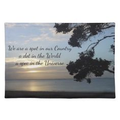 Photo Scenery Universe Quote by Kat Worth Placemat - diy cyo customize create your own personalize