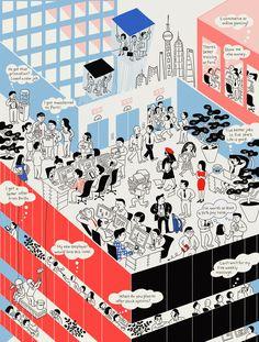 China's Talent War - TIME Magazine by ♨ Tomi Um ♨ #illustration