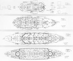 Image result for iowa class battleship hull designs