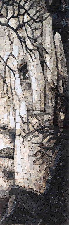 The Woman and the Hand - Series Mosaics 4- Marble Mosaic