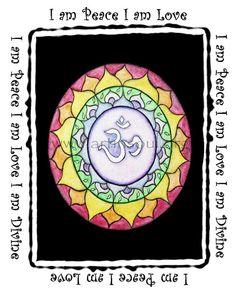 OM Mandala Mantra I am print Art Print Mandala Art by ArtInSoulorg