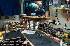 Workbench Organization - Paint Racks - Model Train Forum - the complete model train resource