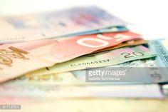 Stock Photo : Scattered Bills