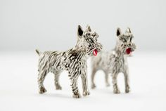 Pair of Vintage Gerry's Terrier Dog Scatter Pins by DearMacyVintage on Etsy