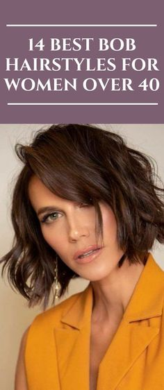 14 Best Bob Hairstyles for Women Over 40 - All For Hair Color Trending Modern Bob Hairstyles, Curly Bob Hairstyles, Hairstyles With Bangs, Flapper Hairstyles, Line Bob Haircut, Bob Haircut With Bangs, Bob Haircuts For Women, Short Bob Haircuts, Best Bobs