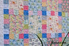 Quilt Baby Toddler Le Elephant Crib Nursery Bedding Cot Elephants alphabet pink blue yellow polka dots scrappy patchwork pastel - http://babyfur.net/quilt-baby-toddler-le-elephant-crib-nursery-bedding-cot-elephants-alphabet-pink-blue-yellow-polka-dots-scrappy-patchwork-pastel.html