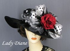 Kentucky Derby Hat of the Day - Lady Diane Hats. To see the source оf this item click on the picture. Please also visit my Etsy shop LarisaBоutique: https://www.etsy.com/shop/LarisaBoutique Thanks!