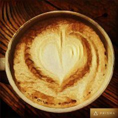 Så lite som behövs för att få fram ett leende. Tack #espressohouse för att ni finns. I väntan på ett möte njuter av mitt kaffe med hjärtat . Bra dag på er alla glöm inte att skicka ett leende till närmaste främling du möter!