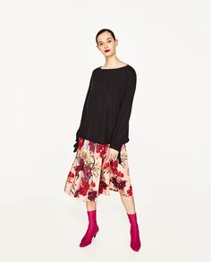 ZARA - WOMAN - SWEATER WITH BALLOON SLEEVES