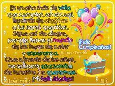 El espacio de Alita Moli: Feliz Cumpleaños