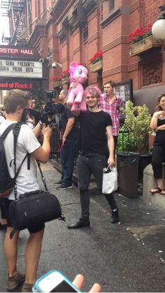 Look at how happy Michael is with his pony