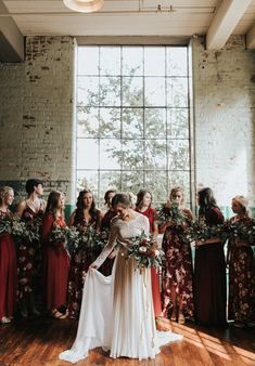 This bride and gal pals are straight gorgeous!   Image by Wild Heart Visuals