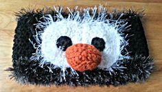 Crocheted Penguin Headband/Ear Warmer on Etsy, $12.00