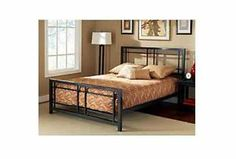 Complete your bedroom collection with this Bryant king-size bedFashionable bed is made of sturdy and durable metal with a luxurious finishElegant bed design is sure to enhance any bedroom decor Cama Queen Size, Queen Size Bedding, Steel Bed Design, Steel Bed Frame, Bed Price, King Size Bed Frame, Bedroom Furniture Stores, Bedroom Decor, Online Furniture