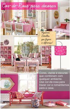 Decoração de Casas com Rosa - http://www.dicasdecoracao.com/decoracao-de-casas-com-rosa/