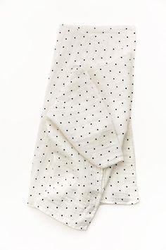 Black and White Polka Dot Swaddle
