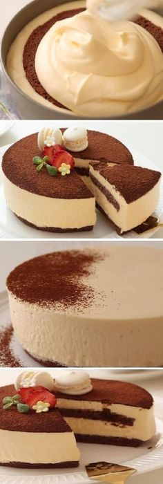 How to make a rich and fluffy Japanese cotton TIRAMISU! Just Desserts, Delicious Desserts, Yummy Food, Baking Recipes, Cake Recipes, Dessert Recipes, Cake Cookies, Cupcake Cakes, Cupcakes