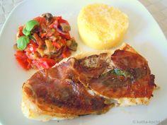 Kabeljau à la Saltimbocca mit Polenta und Fenchel-Tomaten-Gemüse - Katha-kocht!