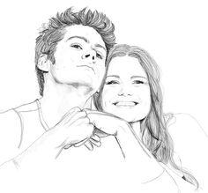 Stiles and Lydia (Teen Wolf) Stiles Et Lydia, Stiles Teen Wolf, Teen Wolf Dylan, Dylan O'brien, Pencil Art Drawings, Cute Drawings, Teen Wolf Fan Art, Arden Cho, Cody Christian