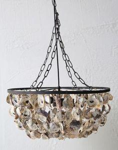 9 75 H X 20 Diameter 187 Shell Pendant Light Homedecorators