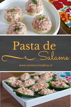 Receta para una deliciosa y sencilla pasta de salame para tus canapés. #enmicocinahoy #pastasalame