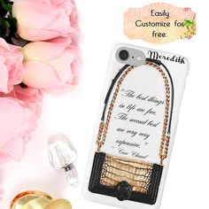 #ChanelBag #ChanelPhoneCase #ChanelAccessory Chanel Bag iPhone Case Coco Chanel Quote Luxury Fashion