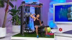 The dual pulley system on this home gym adjusts to 32 different positions for unlimited functional training capability. From inspire fitness.