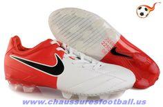 cheap for discount 1d043 d4d2c Nike T90 Laser IV ACC FG Rooney Blanc Rouge FT4981 Zapatos De Fútbol  Baratos, Fútbol