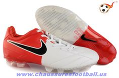 Nike T90 Laser IV ACC FG Rooney Blanc Rouge FT4981 Zapatos De Fútbol Baratos f01388b62bbb3
