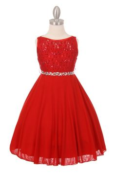 b2d482b94 Red Flower Girl Dress