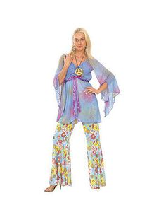 #Adult woodstock hippie groovy hippy fancy #dress costume 60s 70s sexy #ladies bn,  View more on the LINK: http://www.zeppy.io/product/gb/2/351070006713/