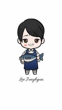 Lee Jong Hyun Cnblue, Lock Screen Wallpaper, Jonghyun, Smurfs, Chibi, Fictional Characters, Fantasy Characters