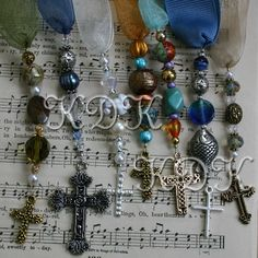 Tutorial for Beaded Bookmarks with Ribbons Beads Charms. $3.25, via Etsy.