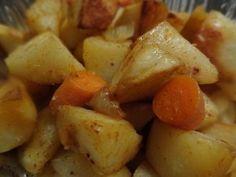 Portuguese Style Roast Potatoes & Sweet Potatoes