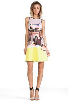 Clover Canyon New Home Cut Out Neoprene Dress in Multi - So beautiful!